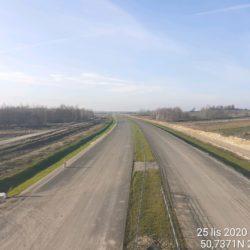 Zaawansowanie robót w kierunku na Lublin z obiektu WS-17 15+637