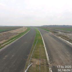 Zaawansowanie robót w kierunku na Rzeszów z obiektu WD-16 14+172