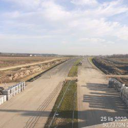 Zaawansowanie robót w kierunku na Rzeszów z obiektu WD-17 15+637