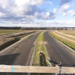 Widok na ciąg główny w kierunku na Lublin z obiektu WD-16 14+172