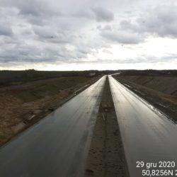 Widok na ciąg główny w kierunku na Rzeszów z obiektu WD-7 5+178