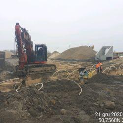 Wykonanie odwodnienia ( igłofiltry), budowa kanalizacji przy WD-14 13+029