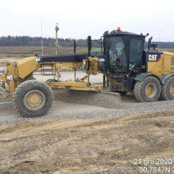 Wykonanie podbudowy z kruszywa ,droga technologiczna 9+850