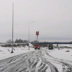 Montaż oświetlenia drogowego 13+120