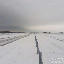 Widok na ciąg główny w kierunku na Lublin 16+500