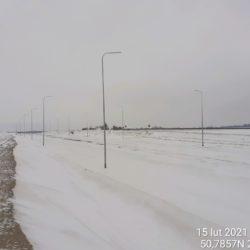 Widok na ciąg główny w kierunku na Lublin 9+850