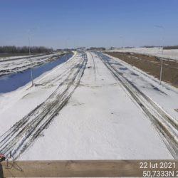 Widok na ciąg główny w kierunku na Lublin z obiektu WD-20 18+017