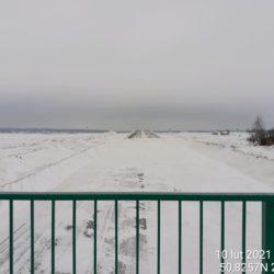 Widok na ciąg główny w kierunku na Lublin z obiektu WD-7 5+178