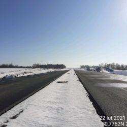Widok na ciąg główny w kierunku na Rzeszów 10+800