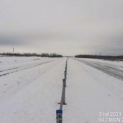 Widok na ciąg główny w kierunku na Rzeszów 16+500