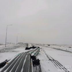 Widok na ciąg główny w kierunku na Rzeszów 3+900