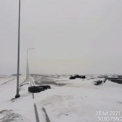 Widok na ciąg główny w kierunku na Rzeszów 4+900
