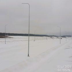 Widok na ciąg główny w kierunku na Rzeszów 9+850