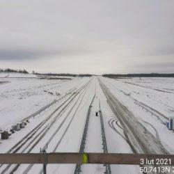 Widok na ciąg główny w kierunku na Rzeszów z obiektu WD-17 15+637