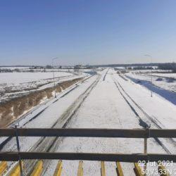 Widok na ciąg główny w kierunku na Rzeszów z obiektu WD-20 18+017