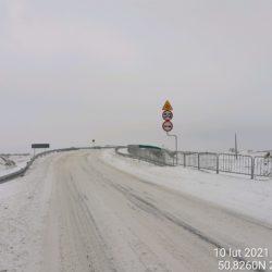 Wjazd na obiekt od miejscowości Polichna WD-7 5+178