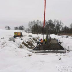 Betonowanie obiektu MS-13 12+633