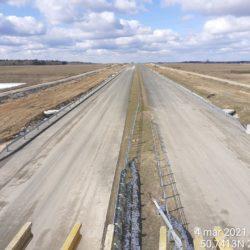 Widok na ciąg główny w kierunku na Lublin z obiektu WD-17 15+637