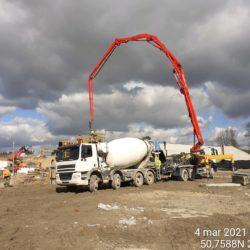 Wykonanie betonowania elementu obiektu MS-13 12+633