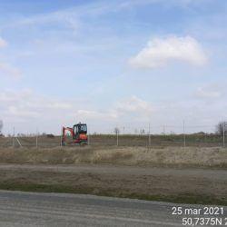 Wykonanie zasypki ogrodzenia drogowego 17+060