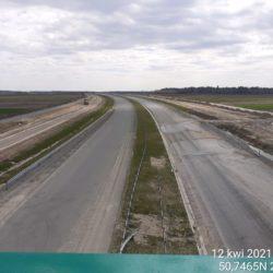 Widok na ciąg główny w kierunku na Rzeszów z obiektu WD-16 14+172
