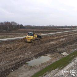 Profilowanie terenu w pasie drogowym 17+550