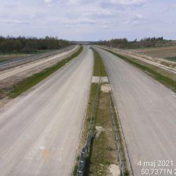 Widok na ciąg główny w kierunku na Lublin z obiektu WD-18 17+209