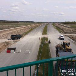 Widok na ciąg główny w kierunku na Rzeszów z obiektu WD-18 17+209