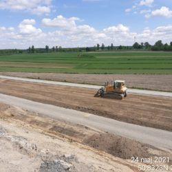 Profilowanie terenu w pasie drogowym 4+400