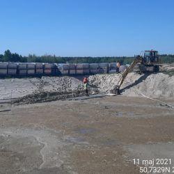 Wykonanie umocnienia dna zbiornika ZR-19 18+060