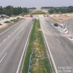 Widok na ciąg główny w kierunku Lublina z obiektu WD-14 13+029