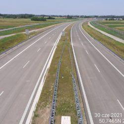 Widok na ciąg główny w kierunku Lublina z obiektu WD-16 14+172
