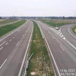Widok na ciąg główny w kierunku Rzeszowa z obiektu WD-14 13+029