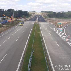 Ciąg główny w kierunku na Lublin z obiektu WD-14 13+029