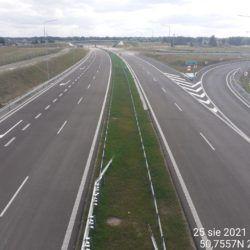 Ciąg główny w kierunku na Rzeszów z obiektu WD-14 13+029