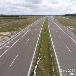 Ciąg główny w kierunku na Rzeszów z obiektu WD-18 17+209