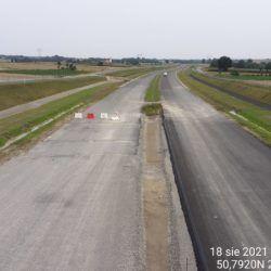 Widok na ciąg główny w kierunku Lublina z obiektu WD-10 8+998