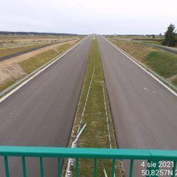 Widok na ciąg główny w kierunku Lublina z obiektu WD-7 5+178