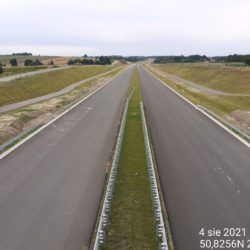 Widok na ciąg główny w kierunku Rzeszowa z obiektu WD-7 5+178