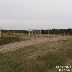 Wykonanie ogrodzenia oraz bramy wjazdowej na drogę technologiczną 11+315