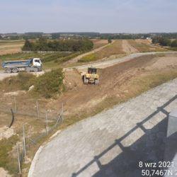 Profilowanie terenu przy obiekcie WD-16 14+172
