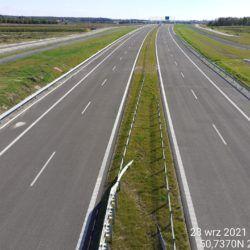 Widok na ciąg główny w kierunku Rzeszowa z obiektu WD-18 17+209