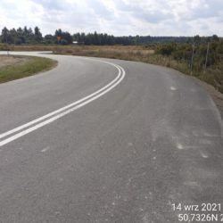 Wykonanie oznakowania na drodze dojazdowej 17+300