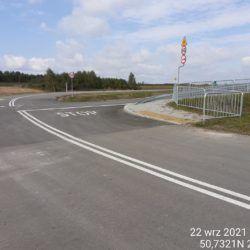 Wykonanie oznakowania na drodze dojazdowej przy obiekcie WD-20 18+017