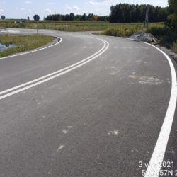 Wykonanie oznakowania poziomego na drodze dojazdowej przy obiekcie WD-18 17+209