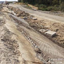 Wykonanie umocnienia skarpy nasypu drogowego 12+780