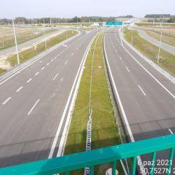 Widok na ciąg główny w kierunku Lublina z obiektu WD-15 13+377