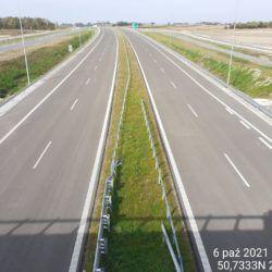Widok na ciąg główny w kierunku Lublina z obiektu WD-20 18+017
